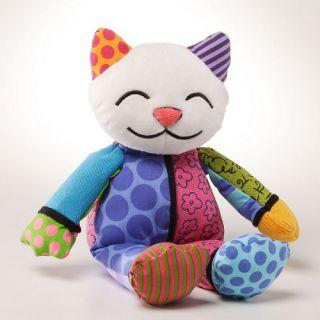 Romero Britto Kitty Cat Coco Mini Stuffed Animal Pop Art Doll 10 inch