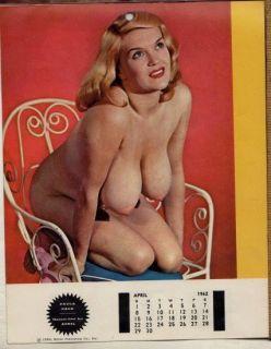 Original 1962 Harem Girl Pin Up Calendar Mamie Van Doren Candy Barr