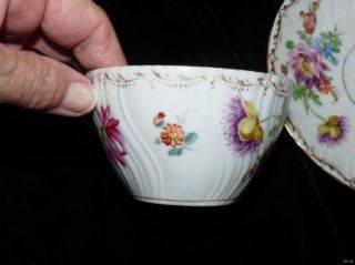 Stunning Vintage Antique Richard Klemm Dresden Flowers Cup Saucer
