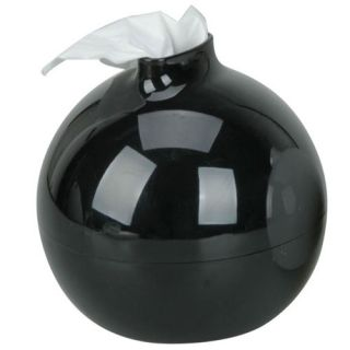New Fashionable Round Bomb Shape Tissue Paper Box Holder Black