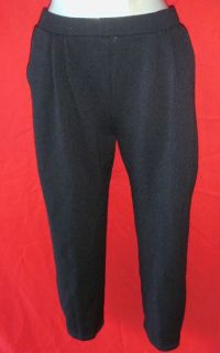 COLLECTION Santana Sweater Knit Black Pants size 8 suit clothing short
