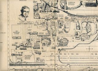 Knotts Berry Farm Ghost Town Map and Cable Car Ticket 1960S