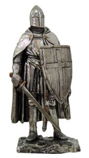 MEDIEVAL KNIGHT SUIT OF ARMOR FOOT SOLDIER FIGURINE FIGURE STATUE