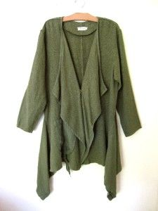 Bodil Fabulous Green Linen Artsy Jacket Large