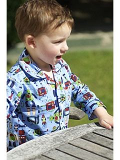 Mini Vanilla Boy`s traditional jersey robot printed pyjamas Blue
