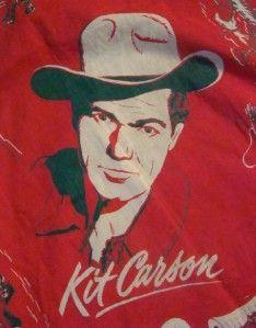 Vintage Kit Carson Cowboy Drink Coca Cola Logo Handkerchief Coke