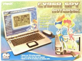 Vtech Cyber Spy Kids Realistic Notebook Computer Learning Laptop 100
