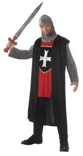 Adult Men Renaissance Knight Medieval Halloween Costume