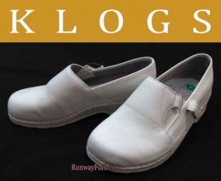 Klogs White Nursing Nurses Clinical Shoes 12 13 New