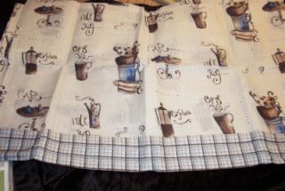 NIP Sets Coffee Bistro Kitchen Curtains Valances