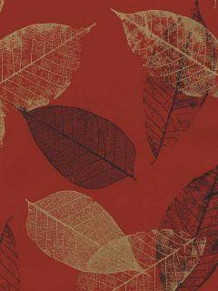 Wallpaper Designer Gold and Black Leaves Leaf on Red