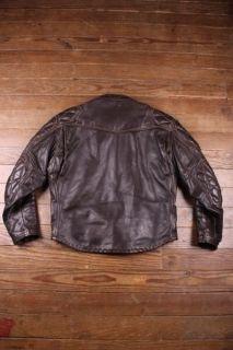 Vtg Langlitz 70s Padded Cascade Cafe Racer Leather Motorcycle Jacket