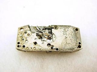 Antique Art Deco Swiss s Kocher 7J Baguette Watch Wristwatch Movement