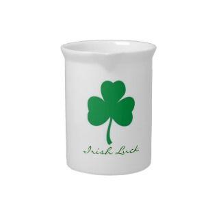 Irish Luck Shamrock Pitcher