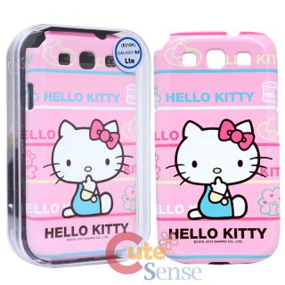 Sanrio Hello Kitty Samsung Galaxy 3 S3 Hard Phone Case Cover  Pink