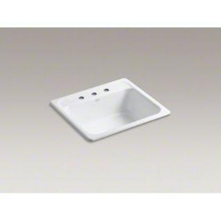 Kohler K 5964 3 0 Mayfield Self Rimming Kitchen Sink White