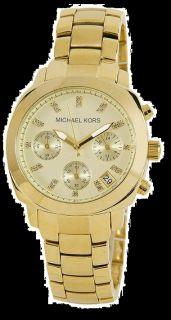 New Michael Kors Michael Kors Womens MK5132 Gold Chronograph Watch