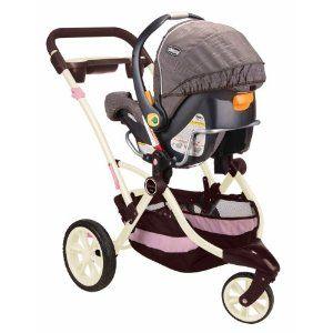 Pink 3 Wheel Baby Stroller Stroller Jogging Removable Seat Easy