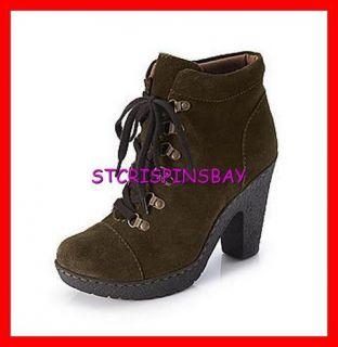 Born BOC Koji Dark Brown Ankle Boots Womens 9 5 New $109 Suede