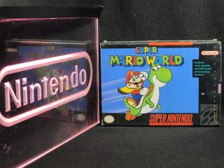 Nintendo SNES Super Mario World New Factory SEALED RARE