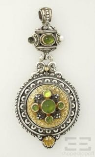 Konstantino Sterling Silver 18K Yellow Gold Green Peridot Enhancer