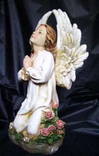 Kneeling Praying Angel Heavenly Garden Memorial Statue