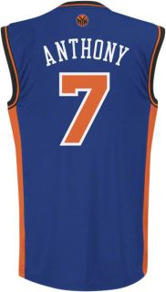 Anthony Jersey Adidas Blue Replica 7 New York Knicks Jersey