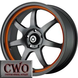 15 Gunmetal Konig Forward Wheels Rims 4x100 4 Lug Civic Mini Cobalt XB
