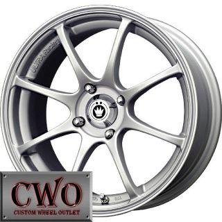 17 Silver Konig Feather Wheels Rims 5x100 5 Lug WRX Impreza Subaru XD