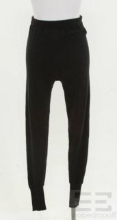 Chanel Black Cashmere Knit Pants 94a Size 34