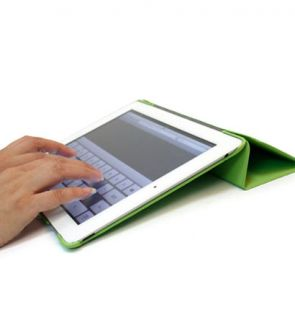 Green Kroo iPad 2 Smart Magnetic Case Cover Hard Shell