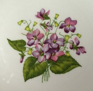 Edwin Knowles China Wood Violets Lugged Cereal Bowl