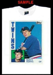 Rusty Kuntz Card Custom T Shirt Tee Baseball Twins T325