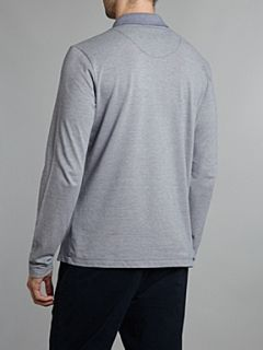 Hugo Boss Fino striped polo shirt Navy
