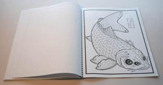 Koi Fish Tattoo Flash II Japanese Style Art Sketch Book