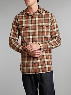 Polo Ralph Lauren Long sleeved flannel plaid shirt Orange