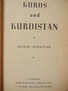 KURDISTAN A Safrastian; Kurd Kurdish Koort Kurdstan Armenian TURKEY