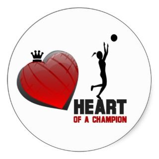 Heart of a Champion Womens Basketball Stickers