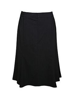 Ann Harvey Black flock spot skirt Black