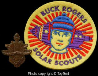 Buck Rogers Solar Scouts vintage ring on metal band & new embroidered