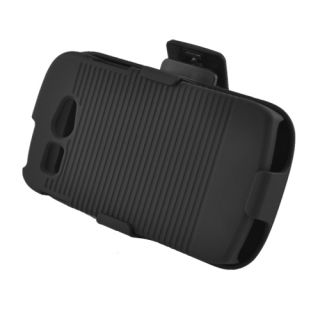 For Kyocera Hydro C5170 Hard Back Case + Holster Belt Clip with Stand