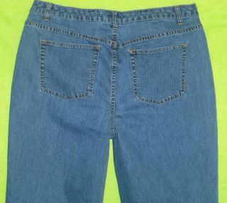 LA Blues Wilshire Red Triangle sz 3 / 2X Womens Blue Jeans Denim Pants
