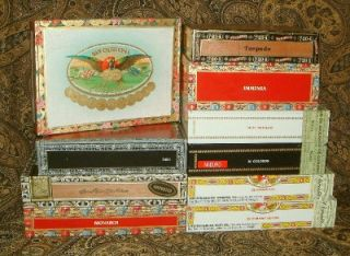 10 Wooden Decorated Cigar Boxes Purses Guitars CBG Crafts Jewelry