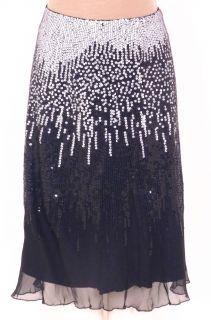 Guy Laroche Paris France Spectacular Sexy Silk Sequin Skirt Ladies