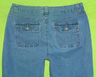 La Blues Sz 10 Womens Capris Blue Jeans Denim Pants Stretch GQ27