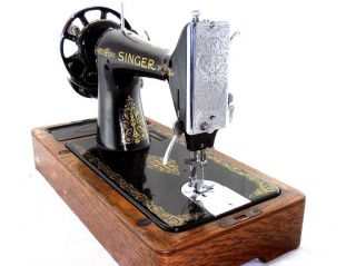 antigua Maquina de coser Singer Manual de 1931 Funciona Caja