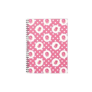 Pink Shabby Style Chic Country Spiral Notebook