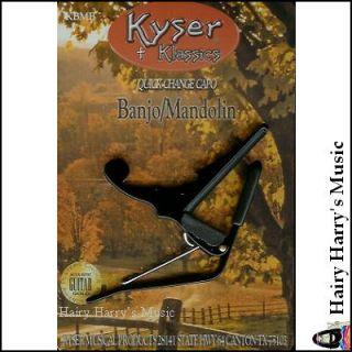 Kyser Quick Change Banjo Mandolin Capo Black New