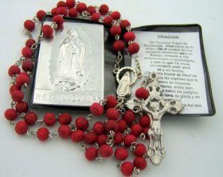 de Guadalupe lote Rosario Rose Perlas Perfumadas de Madera