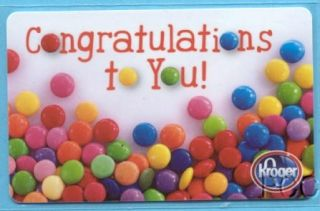 Kroger Congratulations to You 2012 Gift Card